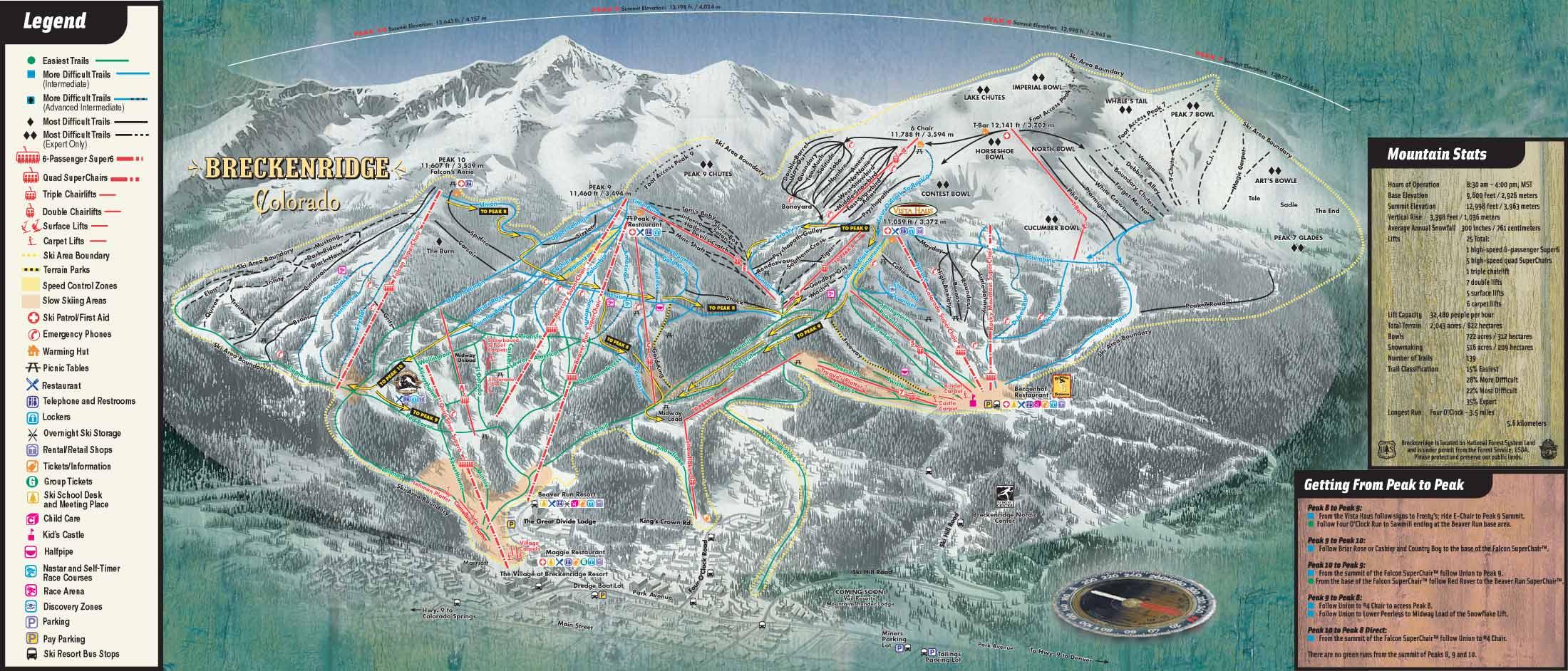 breckenridgetrailmap. breckenridge colorado ski trail map